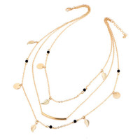 Gold Star & Moon Necklace