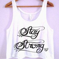 Stay Strong Demi Lovato Tattoo Crop-Top