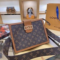 LV DAUPHINE New Large Capacity Shoulder Bag Crossbody Bag