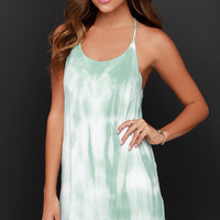 Morning Glory Mint Tie-Dye Dress