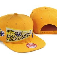 ONETOW L.A. Lakers NBA 9FIFTY Cap Yellow