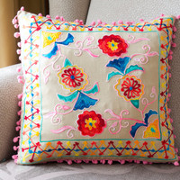 Colorful Turkish Traditional Decorative Pillow,Cushion Cover,Embroidered Pillow,Cotton Pillow Case