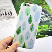 Stylish On Sale Cute Iphone 6/6s Hot Sale Hot Deal Leaf Iphone Apple Soft Phone Case [6034060737]