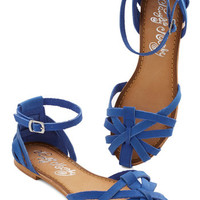 ModCloth Sums it Up Sandal in Cobalt