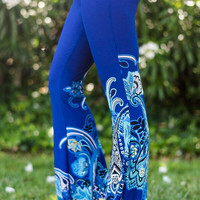 Paisley Floral Flare Pants