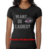 Younique Want 3D Lashes? Rhinestone Shirt