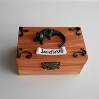 Toothless Dragon Jewelry Box Polymer clay