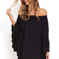 Black Ethereal Chiffon Mini Dress