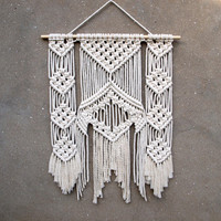 Large macrame wall hanging Big hanging tapestry Bedroom wall decor Macrame wall art Boho home decor Hand made unique design Bohemian style