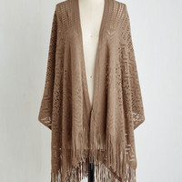 Boho Shawl My Love in Cocoa by ModCloth