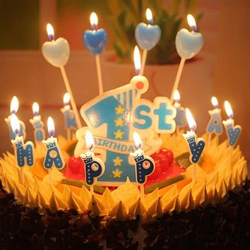 Birthday Candles 1St Moulded Design 1St First Birthday Baby Candle Environmental Children Candle Gift