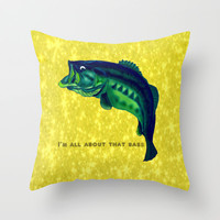 I'm All About That Bass Throw Pillow by StuartWallaceArt