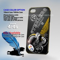 NFL Pittsburgh Steelers Logo Photo On Hard Plastic iPhone 4 4S Case