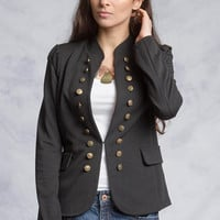 The Ali Military Chic Black Jacket