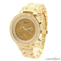 Gold on Gold CZ Men's Watch | Hip Hop Jewelry | Urban Style Watches