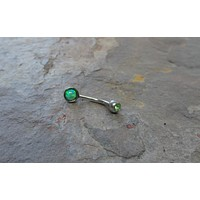 Peridot Green Fire Opal Eyebrow Ring Rook Ear Piercing