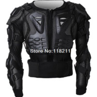 Motorcycle Body Armor Spine Chest Protective Jacket Gear