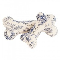 Harry Barker Large Blue Toile Bone Canvas Toy, Dog Toys, Dog Supplies, Pet Toy | Toad Hollow