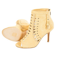Jimmy Choo Bohemian Suede Open-toe Studded Ankle Boots, Size 36