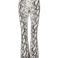 Rebel Heart White Snakeskin Flared Bell Bottom Pants