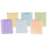 10 1/2W x 13H x 5 1/2G Large Matte Pastel Color soft palette Gift Bag in 6 Colors/Case of 120