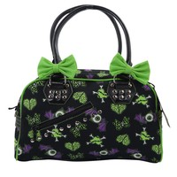 Spooky Creepville Zombie Horror Love Goth Emo Bowler Purse