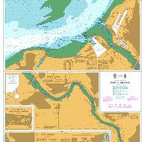 British Admiralty Nautical Chart   2591: Denmark, Kattegat, Approaches to Horsens, Vejle and Fredericia