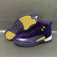 Air Jordan 12 Retro Velvet Purple Sport Shoes 36 47
