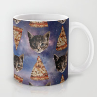 Kitten Pizza Galaxy Mug by Beth Zimmerman Illustration