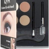 NYX Cosmetics Eyebrow Kit With Stencil Set, Blondes  0.7 Oz