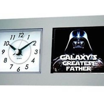 Star Wars Darth Vader Galaxy's Greatest Dad Best #1 Fathers Day Desk Table Clock