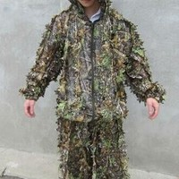 Camo 3D Leaf Yowie Ghillie Sniper Paintball Archery Bowhunting Hunting SUIT