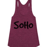 Soho 4-Female Tri Cranberry Tank