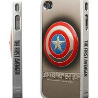 86hero Marvel Avengers 3d Silver Iphone Case Cover for Iphone4 4s - Captain America