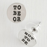 Scholastic Whether Tis Nobler Earrings by ModCloth
