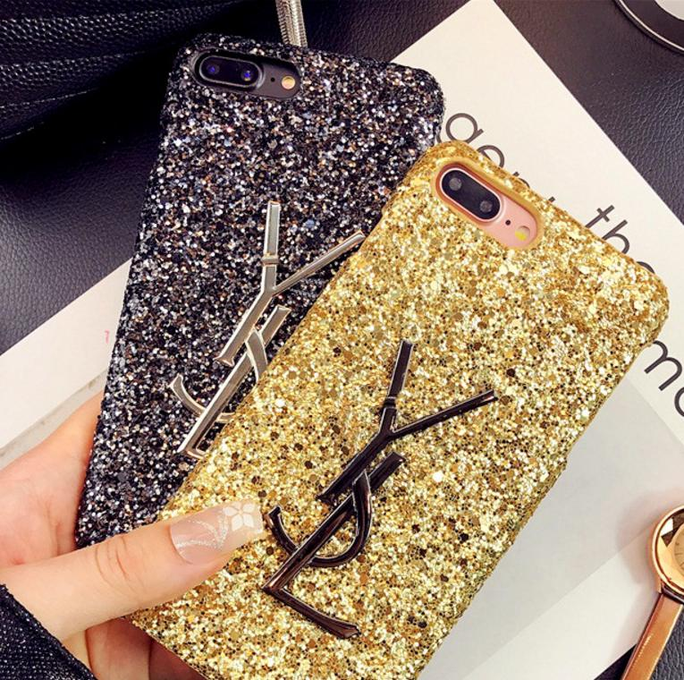 Image of YSL Applies to Apple 7 Sequin I6 Phone Case iphone 7plus shining 6plus