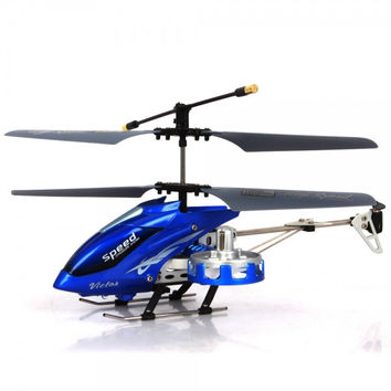 MingHui M302 4 Channel Infrared Remote Control RC Helicopter with Gyro Blue