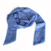 Extra long Periwinkle Scarf, Iridescent scarf, Holiday gift for Coworker, Blue Sash for Matron of Honor, Flower girl Blue sash/belt