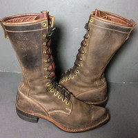 DAYTON Brown Leather Lace Up Work boots Canada Men's Size 9