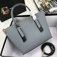 prada women leather shoulder bags satchel tote bag handbag shopping leather tote crossbody 239