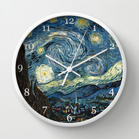 Starry Night by Vincent van Gogh. Wall Clock by ArtsCollection