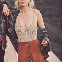 Free People One on One Suede Mini Skirt