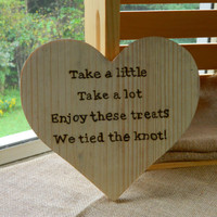 "10"" Wooden Heart Sign for Wedding or Party Candy Table Buffet, Decoration, Reception Rustic"