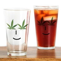 Pot Head Emote Drinking Glass> The Pot Head Emote> 420 Gear Stop