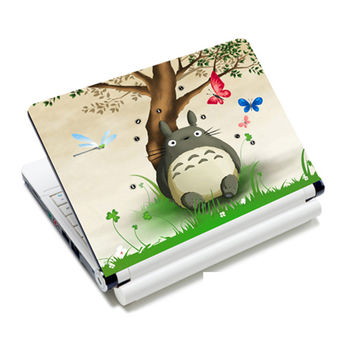 """Totoro laptop skin decal vinyl stickers for 12"""" 12.6"""" 13"""" 13.3"""" 14"""" 14.1"""" 15"""" 15.4"""" HP/DELL/ACER/asus notebook NEK1215-2555"""