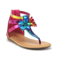Toddler Girls Ositos Ankle High Bow Sandals SEZ-02I Multi
