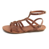 Strappy Gladiator Wedge Sandal: Charlotte Russe
