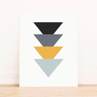 Triangle Primary Colors Art PRINTABLE Art Dorm Decor Typography Poster Home Decor Office Decor Apartment Poster