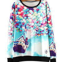 Up Scenery Print Sweater
