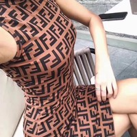 Fendi Classic Vintage Fashion Dress
